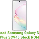 Samsung Galaxy Note 10 Plus SCV45 Stock ROM