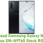 Samsung Galaxy Note 10 Plus SM-N9760 Stock ROM