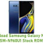 Samsung Galaxy Note 9 SM-N960U1 Stock ROM