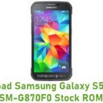 Samsung Galaxy S5 Active SM-G870F0 Stock ROM