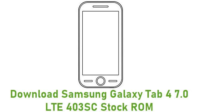 Download Samsung Galaxy Tab 4 7.0 LTE 403SC Stock ROM