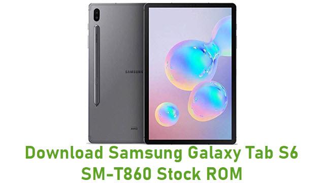 Download Samsung Galaxy Tab S6 SM-T860 Stock ROM