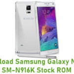Download Samsung Galaxy Note 4 SM-N916K Stock ROM