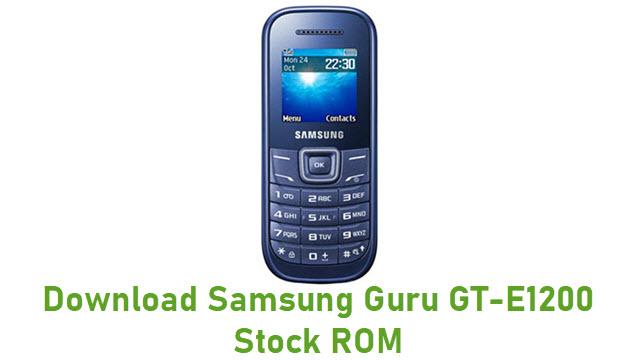 Download Samsung Guru GT-E1200 Stock ROM