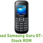Samsung Guru GT-E1205Y Stock ROM
