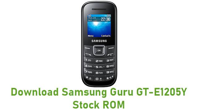 Download Samsung Guru GT-E1205Y Stock ROM