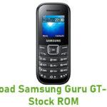 Samsung Guru GT-E1207Y Stock ROM