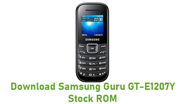 Download Samsung Guru GT-E1207Y Stock ROM
