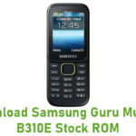 Samsung Guru Music 2 B310E Stock ROM