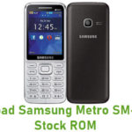 Samsung Metro SM-B360E Stock ROM