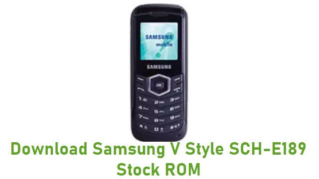Download Samsung V Style SCH-E189 Stock ROM