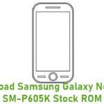 Samsung Galaxy Note 10.1 SM-P605K Stock ROM