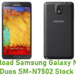 Samsung Galaxy Note 3 Neo Duos SM-N7502 Stock ROM