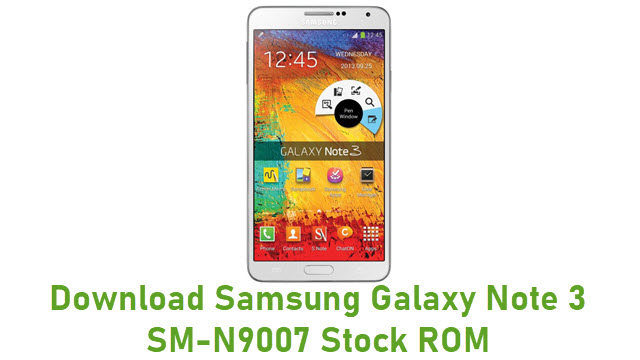 Download Samsung Galaxy Note 3 SM-N9007 Stock ROM