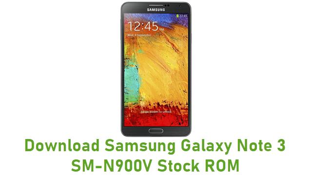 Download Samsung Galaxy Note 3 SM-N900V Stock ROM