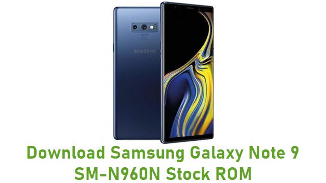 Download Samsung Galaxy Note 9 SM-N960N Stock ROM