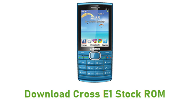 Download Cross E1 Stock ROM