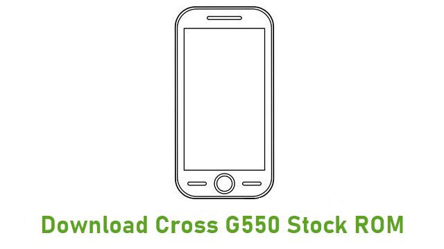 Download Cross G550 Stock ROM