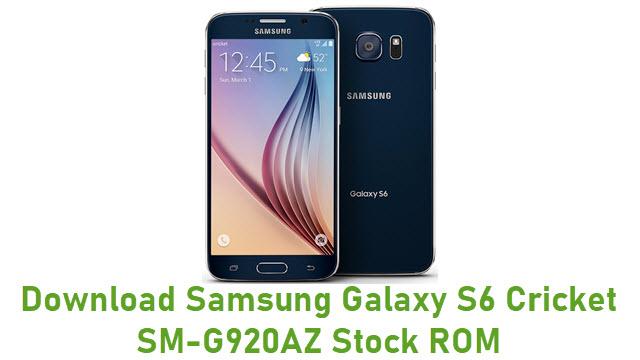 Download Samsung Galaxy S6 Cricket SM-G920AZ Stock ROM