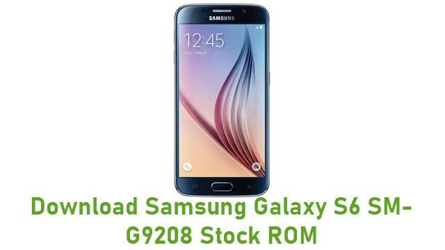 Download Samsung Galaxy S6 SM-G9208 Stock ROM