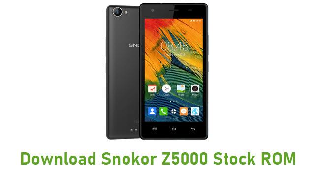 Download Snokor Z5000 Stock ROM