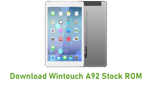 Download Wintouch A92 Stock ROM