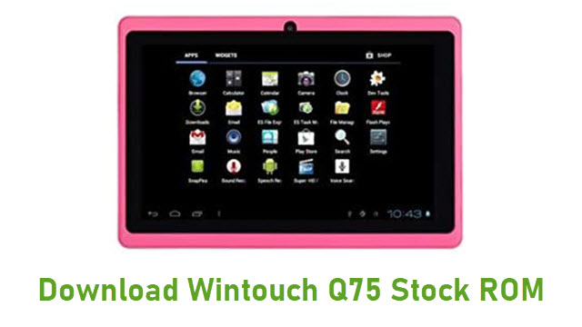 Download Wintouch Q75 Stock ROM