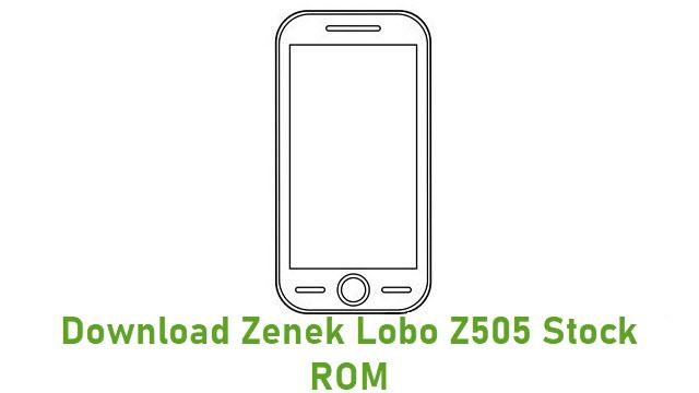 Download Zenek Lobo Z505 Stock ROM
