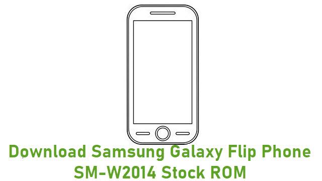 Download Samsung Galaxy Flip Phone SM-W2014 Stock ROM