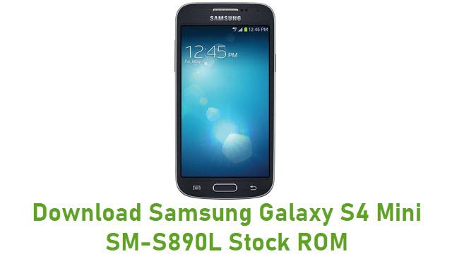 Download Samsung Galaxy S4 Mini SM-S890L Stock ROM