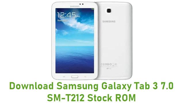 Download Samsung Galaxy Tab 3 7.0 SM-T212 Stock ROM