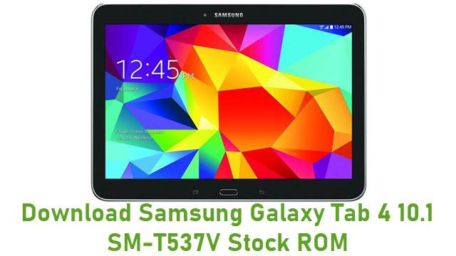 Download Samsung Galaxy Tab 4 10.1 SM-T537V Stock ROM