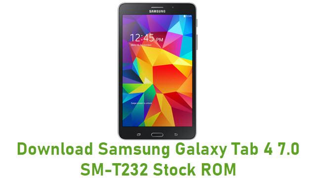 Download Samsung Galaxy Tab 4 7.0 SM-T232 Stock ROM
