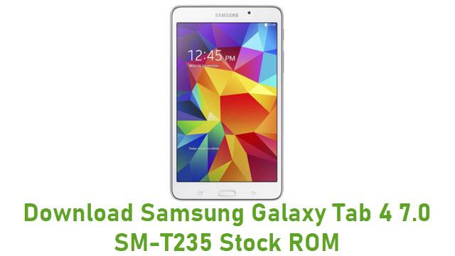 Download Samsung Galaxy Tab 4 7.0 SM-T235 Stock ROM