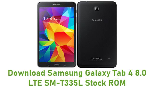 Download Samsung Galaxy Tab 4 8.0 LTE SM-T335L Stock ROM