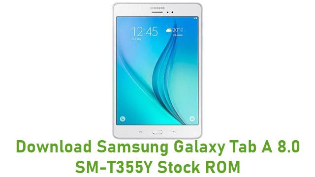 Download Samsung Galaxy Tab A 8.0 SM-T355Y Stock ROM