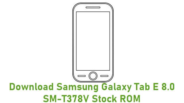Download Samsung Galaxy Tab E 8.0 SM-T378V Stock ROM