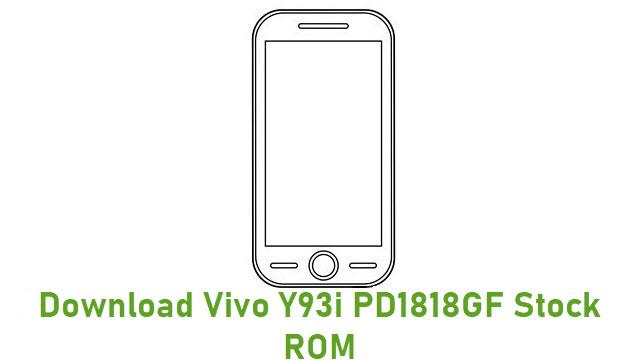 Download Vivo Y93i PD1818GF Stock ROM