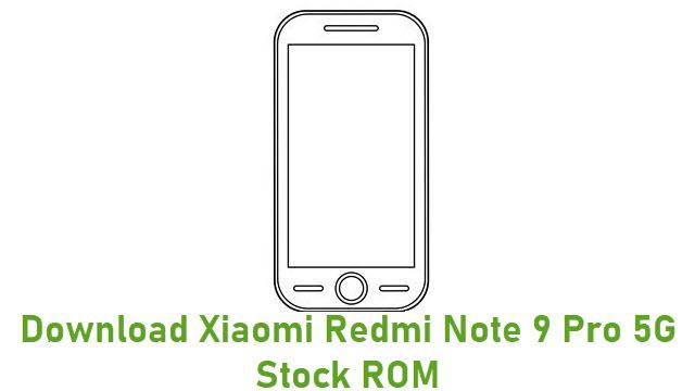 Download Xiaomi Redmi Note 9 Pro 5G Stock ROM