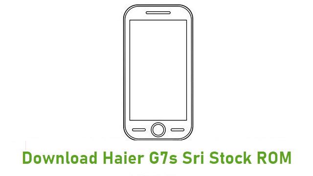 Download Haier G7s Sri Stock ROM