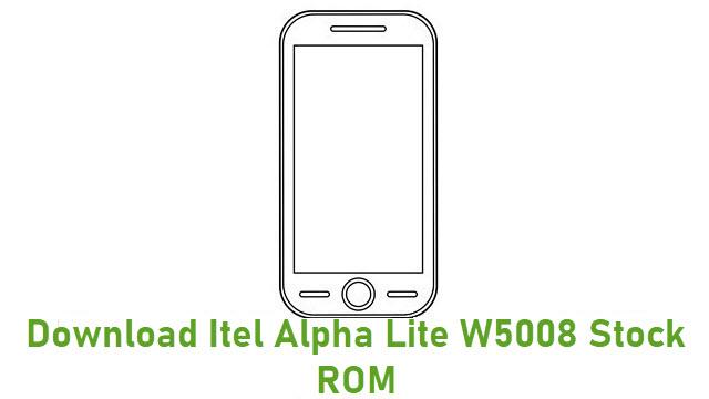 Download Itel Alpha Lite W5008 Stock ROM