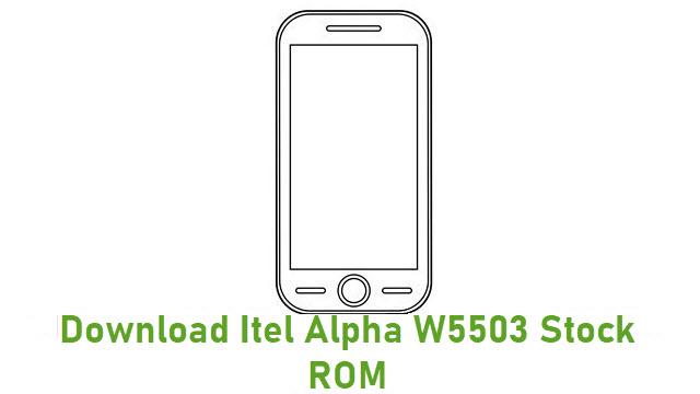 Download Itel Alpha W5503 Stock ROM
