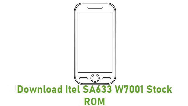 Download Itel SA633 W7001 Stock ROM