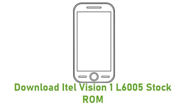 Download Itel Vision 1 L6005 Stock ROM