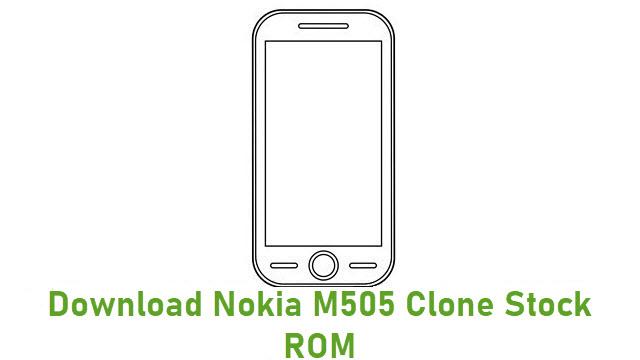 Download Nokia M505 Clone Stock ROM