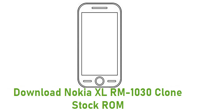 Download Nokia XL RM-1030 Clone Stock ROM