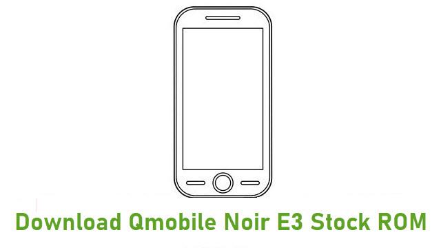 Download Qmobile Noir E3 Stock ROM
