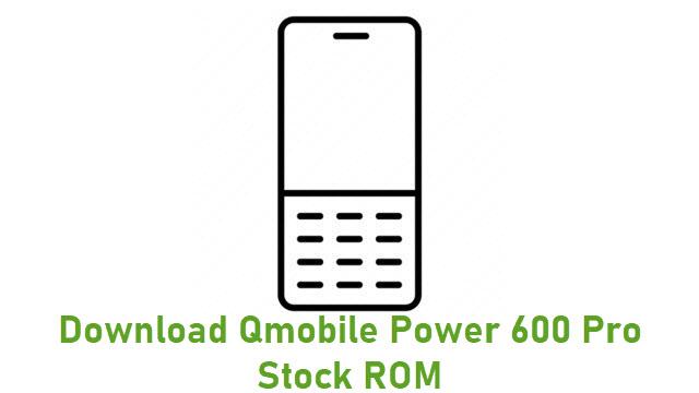 Download Qmobile Power 600 Pro Stock ROM