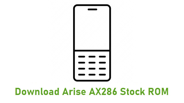 Download Arise AX286 Stock ROM
