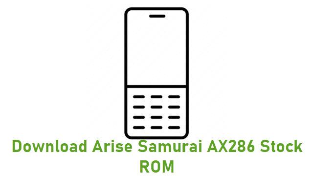 Download Arise Samurai AX286 Stock ROM